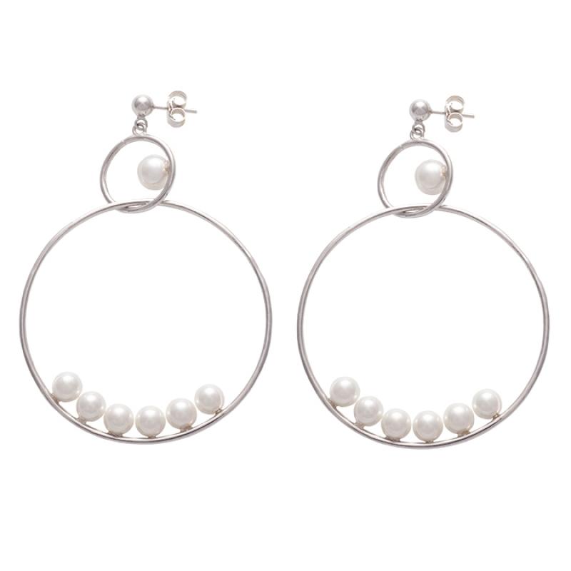 Pendientes en plata con perlas